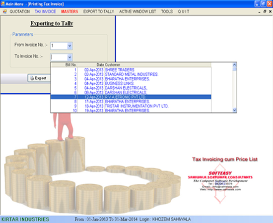 Import Export Tally Software